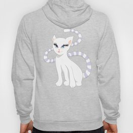 Pretty white cartoon kitty cat Hoody