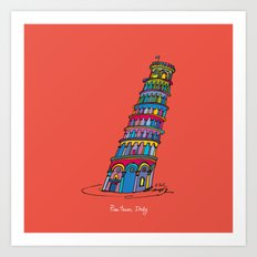 pisa tower Art Print