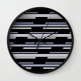 Skewed Stripes Pattern Design Wall Clock