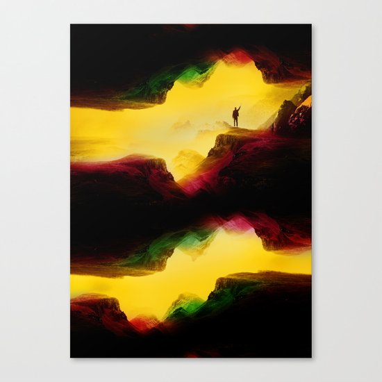 Hi from the The Upside Down Canvas Print
