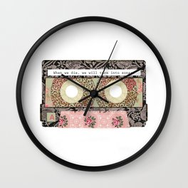 Floral Cassette Tape Wall Clock