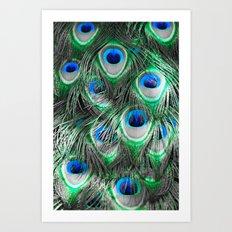 Selective peacock Art Print