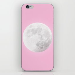 WHITE MOON + PINK SKY iPhone Skin