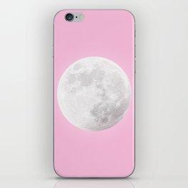 WHITE MOON + PINK SKY iPhone Skin