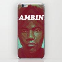 childish gambino iPhone & iPod Skins featuring Gambino by NArtist_P3rhaps