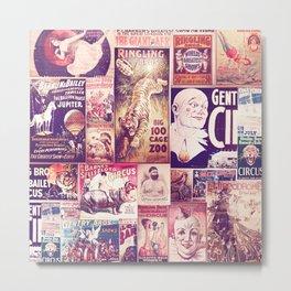 Circus Collage 2 Metal Print