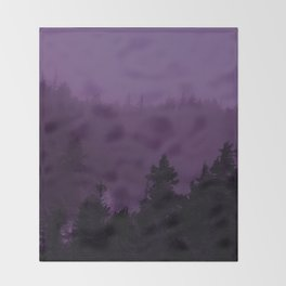 Purple Fog Throw Blanket