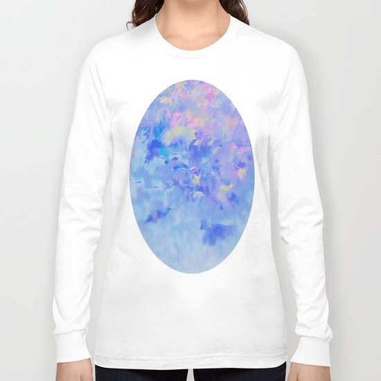 Blue Leaves under a Lavender Sky Long Sleeve T-shirt