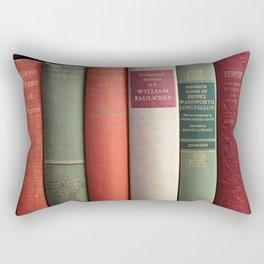 Old Books - Square Rectangular Pillow