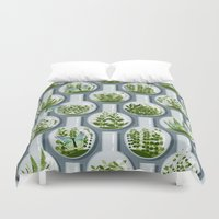 planets Duvet Covers featuring Tiny Planets by Alex Morgan