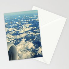 flying over mountain tops Stationery Cards