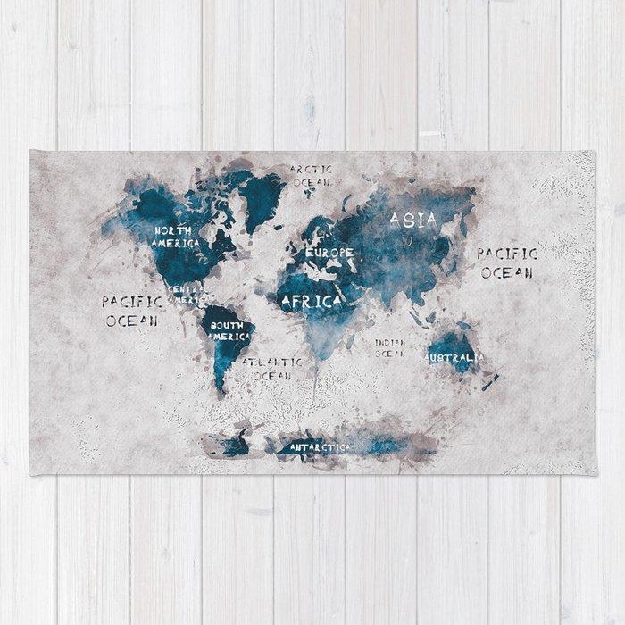 World map 13 worldmap map world rug by jbjart society6 world map 13 worldmap map world rug gumiabroncs Choice Image