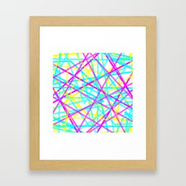 Abstract Lines CYM Framed Art Print