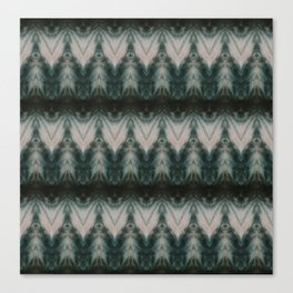 Shades of Green Shibori Canvas Print