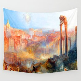 William Turner Modern Rome Wall Tapestry