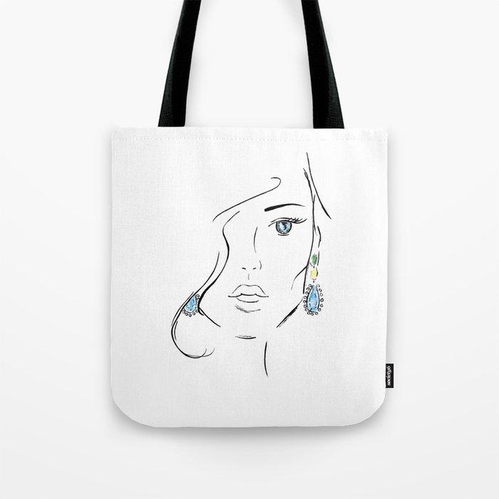 Topaz eye Tote Bag