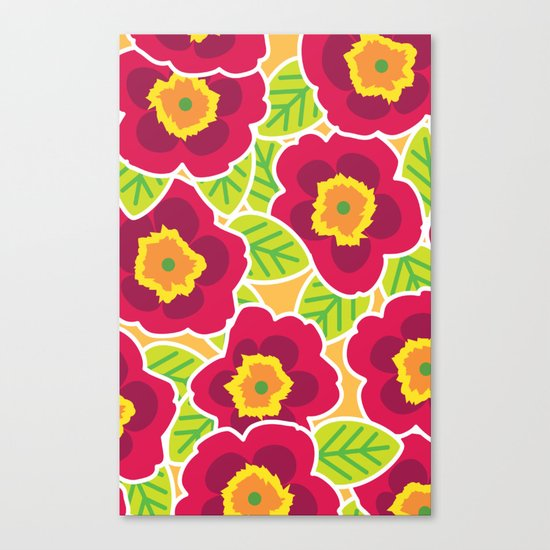Primrose Collection 3 Canvas Print
