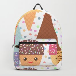 Hello Summer Kawaii Ice cream waffle cone Backpack