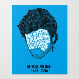 George Obituary Silhouette Canvas Print