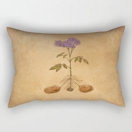 Anatomy of a Potato Plant Rectangular Pillow