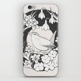 Spring Wren iPhone Skin