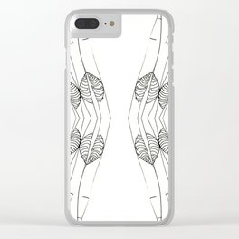 SLIVER WINGS Clear iPhone Case