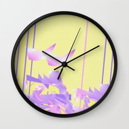 Purple Fusion Easter Colors Wall Clock