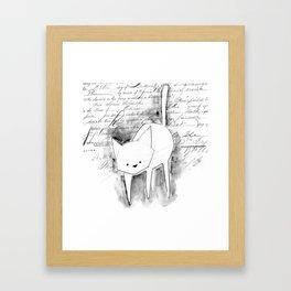 minima - deco cat Framed Art Print