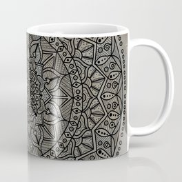 Circle of Life Mandala Brown and Blue Coffee Mug
