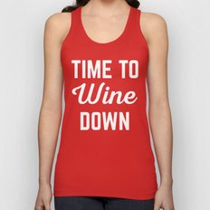 Wine Down Funny Quote Unisex Tank Top