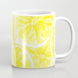 Lemon slices pattern watercolor Coffee Mug