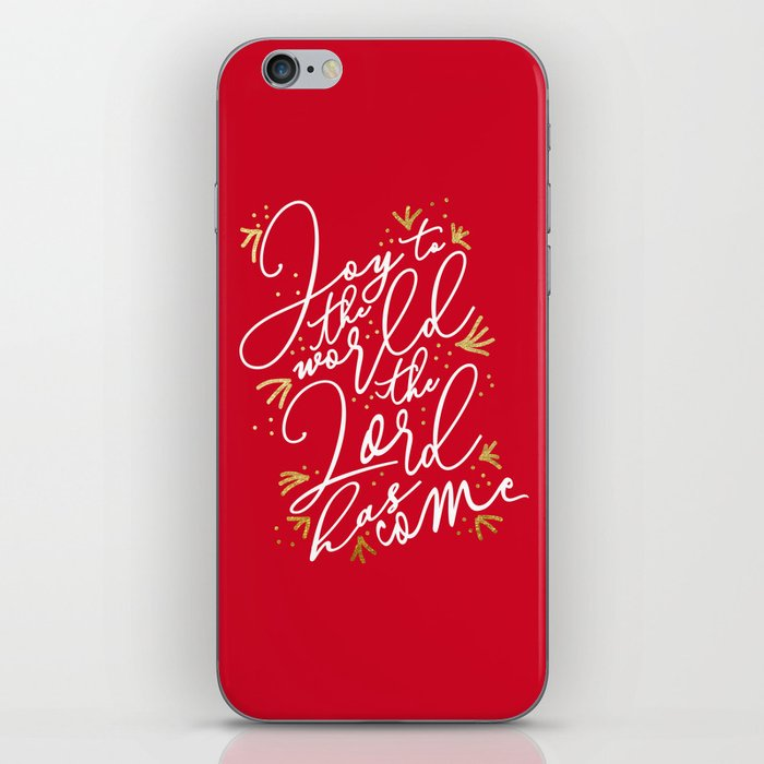 Joy to the World (Red) - Holiday iPhone Skin