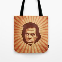 nick cave Tote Bags featuring Cave by Durro