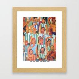 Gran tribuna (detalle) by Diego Manuel Framed Art Print