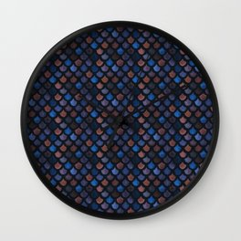 Mermaid Galaxy Scales Wall Clock