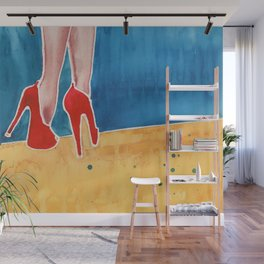 The Red High Heels Wall Mural