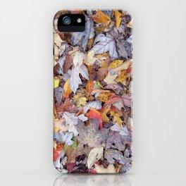 leaf litter menagerie iPhone Case