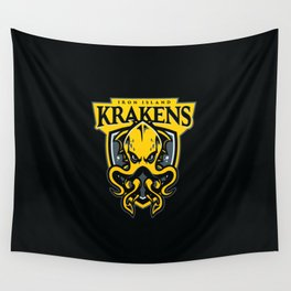 Iron Island Krakens Wall Tapestry