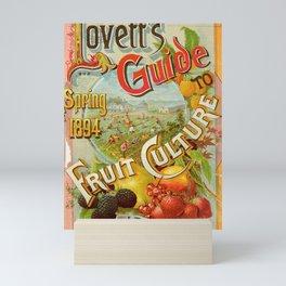garden 047 Frame  Logo  Field  Berries  Fruits  Raspberry  Strawberry  Pear23 Mini Art Print