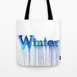 Winter Typography Tote Bag
