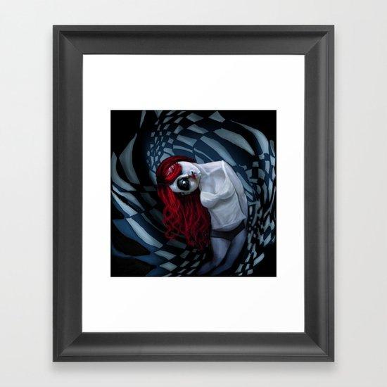the dark side of my mind hurts Framed Art Print