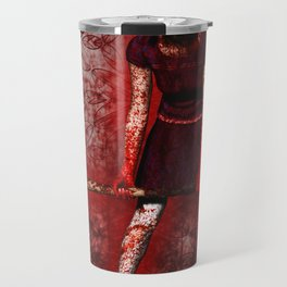 Linda - Blood-Soaked, Holding Bat Travel Mug