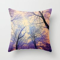 bebop Throw Pillows featuring Snow Angel's View - Nature's Painting (color 2) by soaring anchor designs