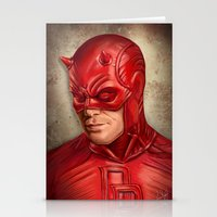 daredevil Stationery Cards featuring Daredevil by Vanessa Seixas