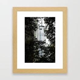Seeing WTC1 through the Trees Framed Art Print