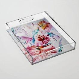 Asters Acrylic Tray