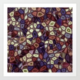 Fractal Gems 01 - Fall Vibrant Art Print