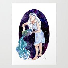 Aquarius the Water Bearer Art Print