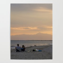 Sunset Over Mt. Olympus Poster