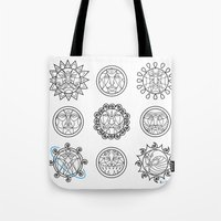 astrology Tote Bags featuring Astrology 3 by Karthik